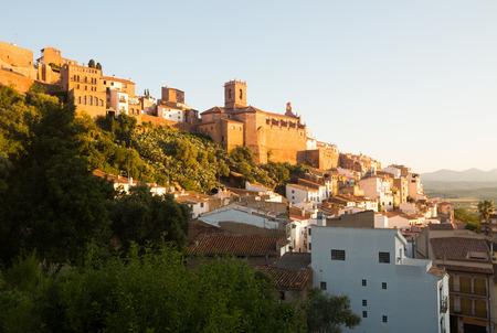 parish: Parish church of Villafames in Valencian region at summer