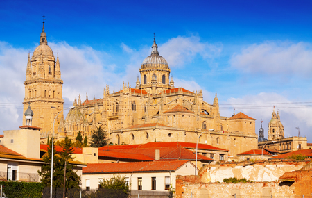 salamanca: New Cathedral of Salamanca, built in  16th century. Spain Stock Photo