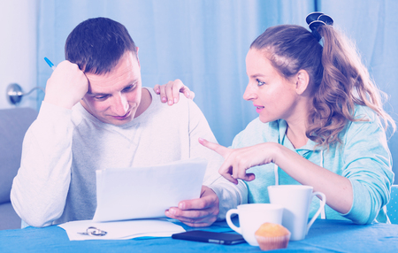 Husband and wife having no possibility to pay utility bills and rent