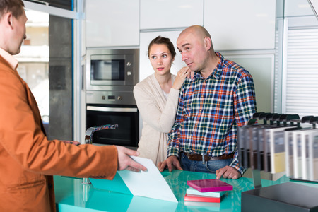 Clients dissatisfied with the quality of the goods in kitchen furniture  store