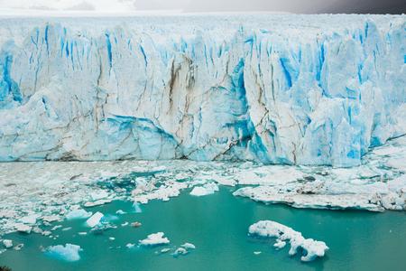 Vertical edge of glacier Perito Moreno (Glaciar Perito Moreno), southeast of Argentina, province Santa Cruz