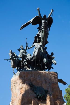 Monument at Cerro de la Gloria hill in Mendoza city in Argentina