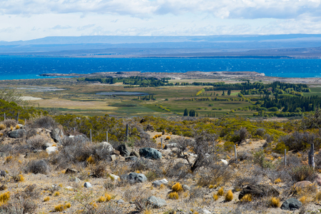 lake district: General view of Lago Buenos Aires from road in Santa Cruz province in Argentina