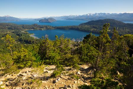 Mountain Cerro Campanario and lake in national park Nahuel Huapi. San Carlos de Bariloche, Argentina, South America