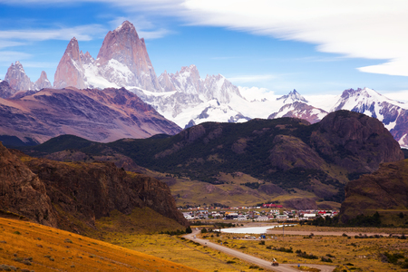 Spectacular view on Fitz Roy Mount of the Southern Patagonian Ice Field in Argentina