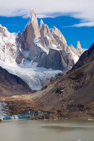 General view on mountains in Los Glaciares National Park in Argentina