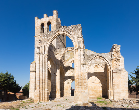 Abandoned of the  Church of Santa Eulalia in Palenzuela.    Castile and Leon