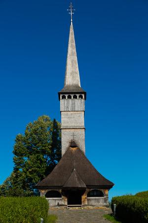 Biserica in Remetea Chioarului is wooden church of Transilvania in Romania. Banco de Imagens