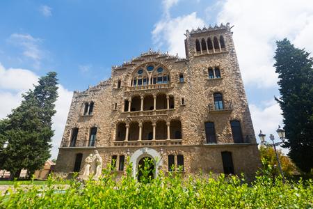 Impressive architectural complex Sanctuary of Santo Cristo in Pla de San Agustin de Igualada, Spain