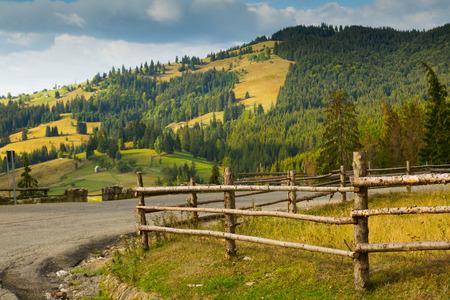 slope: Image of Karpaty mountains on Bucovina in Romania. Stock Photo