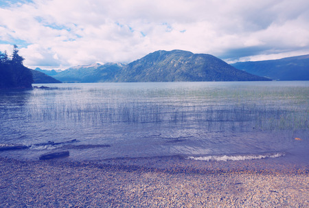 Lake of glacial origin Lago Mascardi in lake region of northern Patagonia, Rio Negro Province, Argentina