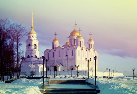 Assumption cathedral at Vladimir in winter, Russia Stock Photo