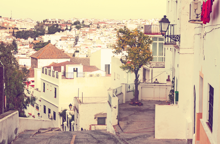 View of residential districts in spanish town.   Arcos de la Frontera