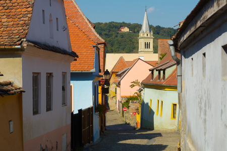 Image of streets of Sighisoara in Romania.