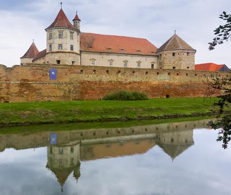 Image of Castle in Fagaras in Romania.