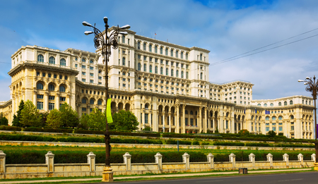 View of Palace of Parliament in Bucharest, Romania Redakční