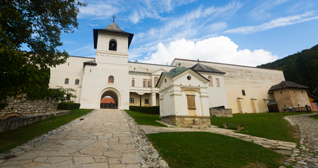 Monastery Horezu in romanian city is religion landmark of Romania.