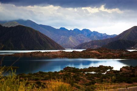 Lake near Villa Potrerillos, Mendoza province, Argentina, Patagonia