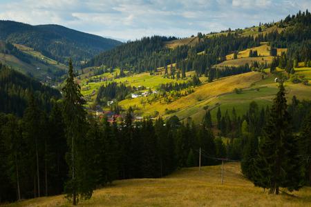 Image of Karpaty mountains on Bucovina in Romania. Stock Photo