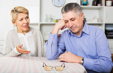 Mature couple find out relationship and sort out family problems