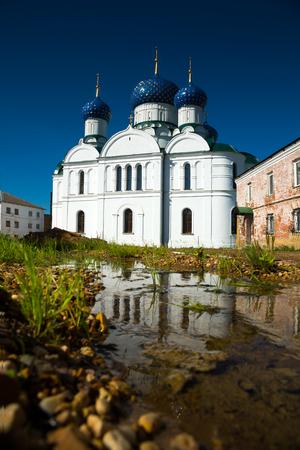 russian orthodox smolensky church in Uglich Epiphany monastery, Russia  Stock Photo