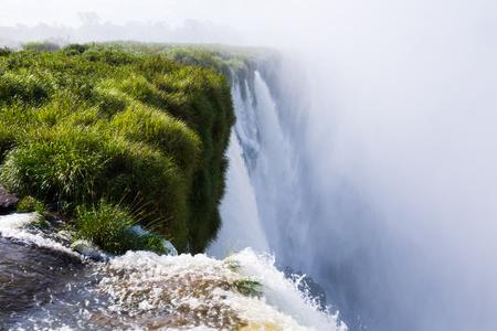 General viewing of the impressive Iguazu Falls system in Argentina Banque d'images - 91948648