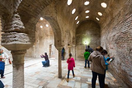GRANADA, SPAIN - MAY 13, 2016:  Interior of The Arabic baths (El Banuelo).  Granada