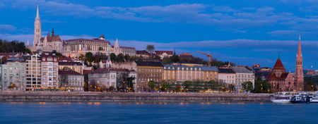 Matthias Church and Fisherman Bastion in nungarian light in Budapest.