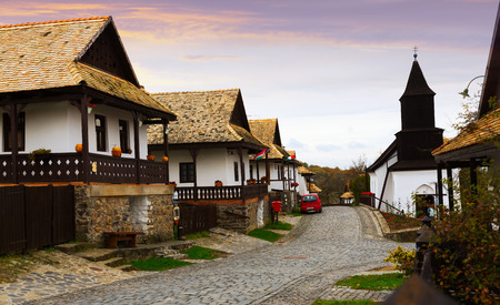 Holloke is traditional village in Hungary outdoor.