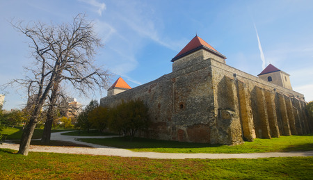 Fortified castle of Palota in Varpalota in sunny autumn day, Hungary Stock Photo