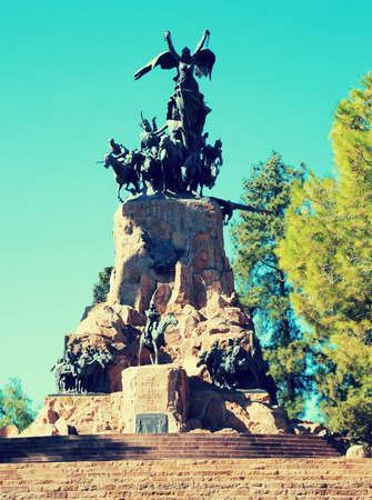 Monument at Cerro de la Gloria in Mendoza city in Argentina
