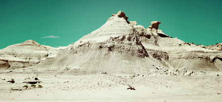 View on otherworldly geological formations in Ischigualasto Provincial Park
