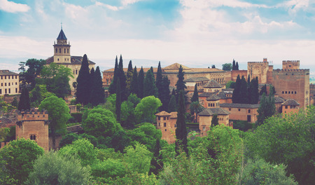 Day view to   Alhambra at  Granada,  Spain
