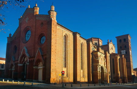 Cathedral of Santa Maria Assunta in Asti, one of most important Gothic cathedrals in Piedmont, Italy