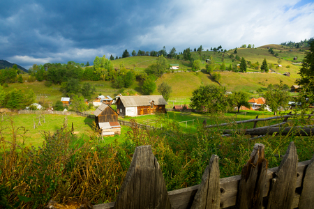 Old Sadova village is in Karpaty in Romania. Stock Photo