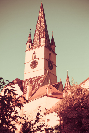 Image of Cathedral of St. Maria in Sibiu in Romania.
