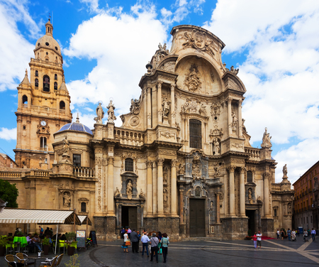 MURCIA, SPAIN - MAY 14, 2016: Cathedral Church of Saint Maria in Murcia.  Spain Editorial