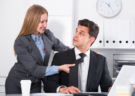 Sexual harassment between colleagues and flirting in office