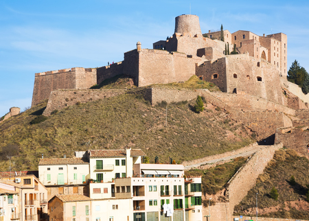 General view of Castle of Cardona in winter day. Catalonia Stock Photo