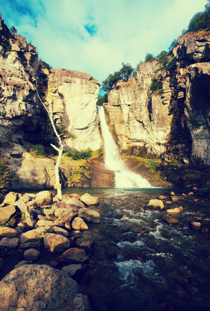Spectacular view on Senda Chorrillo del Salto in national park in Argentina