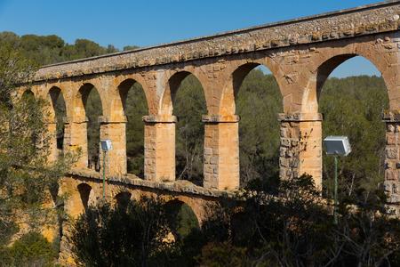Les Ferreres Aqueduct, ancient Roman aqueduct near Tarragona city in Catalonia, Spain