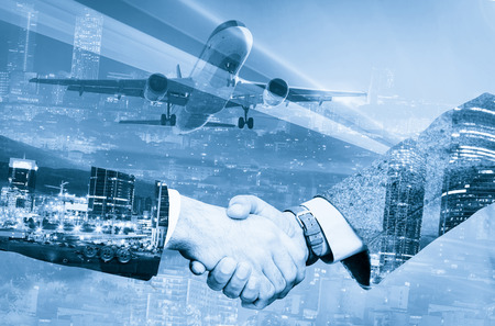 Beneficial agreement made in business trip in city by partners