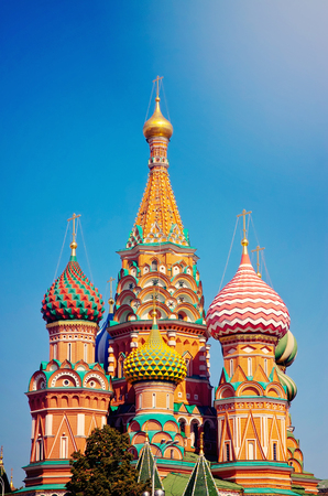 Intercession Cathedral at Red Square. Moscow, Russia Stock Photo