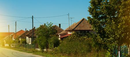 Image of village in Maramures in Romania.