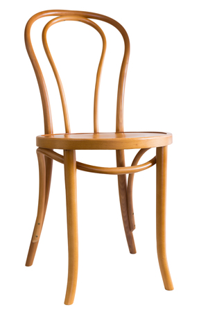 Bentwood dining chair isolated on white background