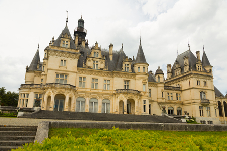 MONTREJEAU, FRANCE- MAY 12, 2017: View of Castle of Valmirand constructed from 1893 in Renaissance style