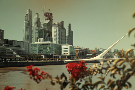 Puerto Madero district in city of Buenos Aires lying on coast of La Plata Bay. Argentina, South America