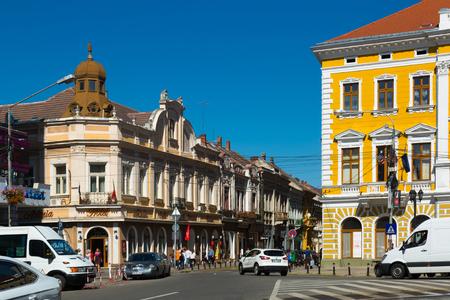 SATU MARE, ROMANIA - SEPTEMBER 14, 2017:Image of building of hotel in Satu Mare in Romania.