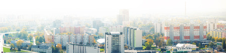 Panoramic view of  district of Bratislava with modern apartment buildings in Slovakia 版權商用圖片
