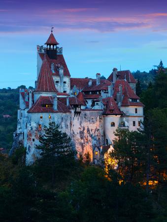 Mysterious Bran castle, also called Dracula's castle. Brasov, Romania